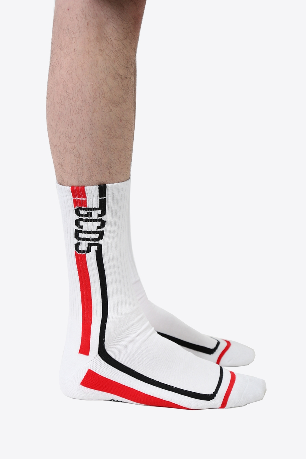 Logo Stripes Socks - White 1668