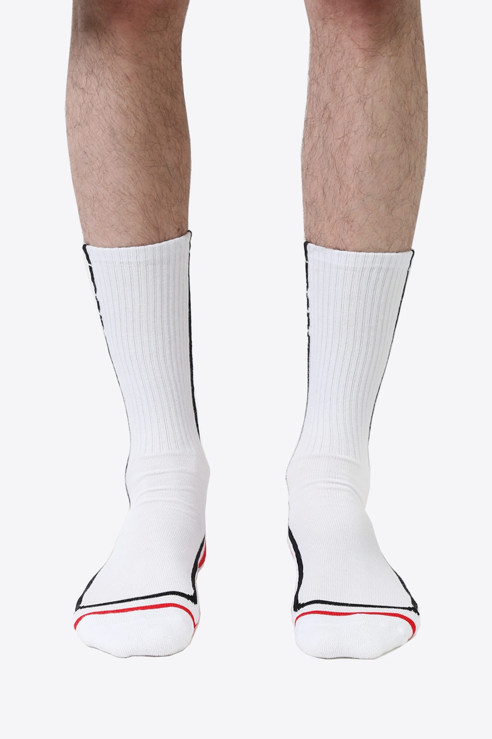 Logo Stripes Socks - White